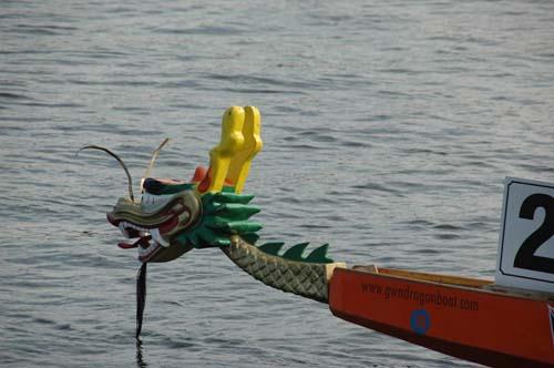 Dragon boat racing at Downtown Disney