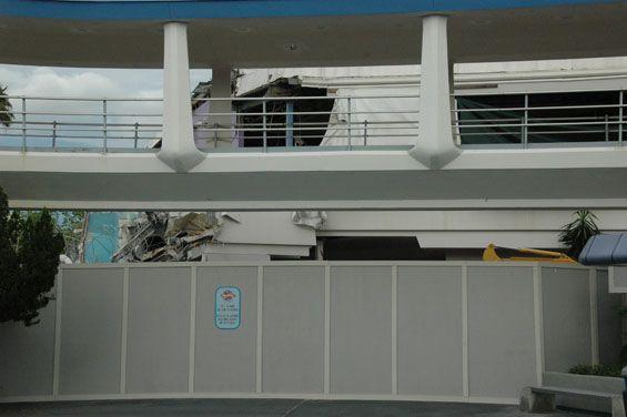 Demolition of Skyway building at Magic Kingdom