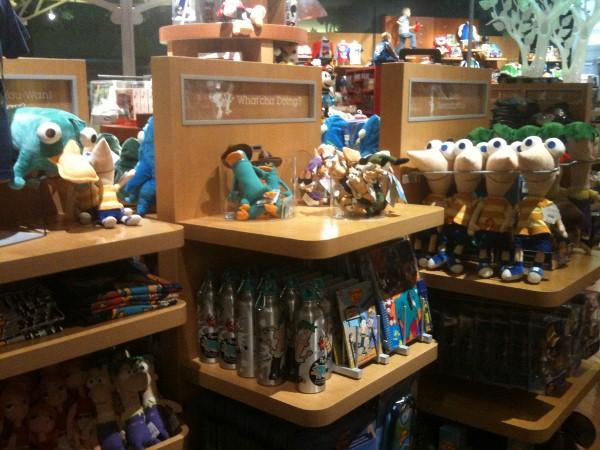 Imagination Disney Store Phineas & Ferb Display
