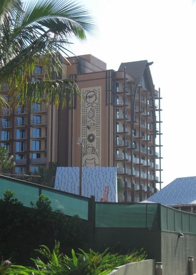 Aulani Construction Exterior Art