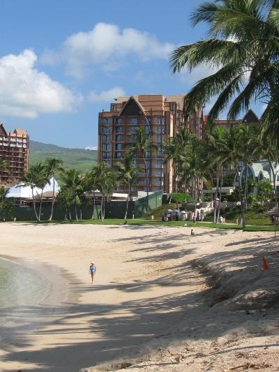 Aulani Construction Beach