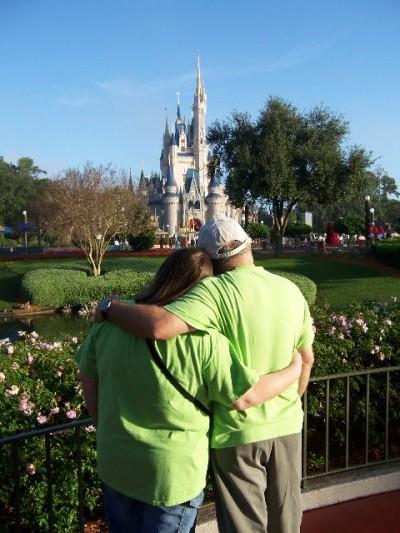 Valentine's Day WDW Krissy2803 and Cinderella's Castle
