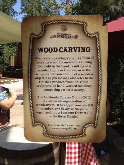 DL Big Thunder Jamboree Woodcarver Sign
