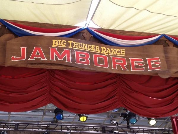 DL Big Thunder Jamboree Stage Sign