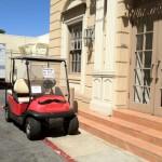 DL Movie Studio Tours Paramount Golf Cart at the Cooper Building